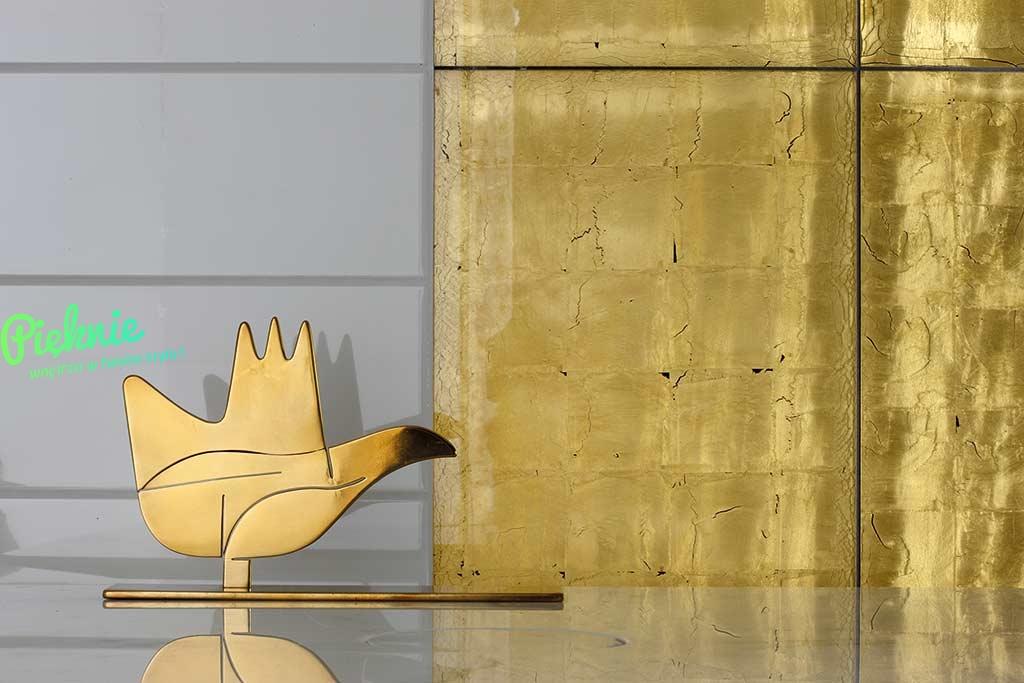 Gold Rex Dekoracyjne Złote Płytki ścienne 10x60 Połysk