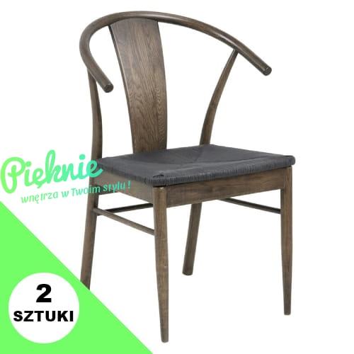 Niesamowite Janik Smoke rustykalne krzesło w stylu retro Actona drewno dębowe UQ49