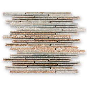 Sticks Light Rustic CM-09006 Barwolf kamienna mozaika łupkowa 30x30