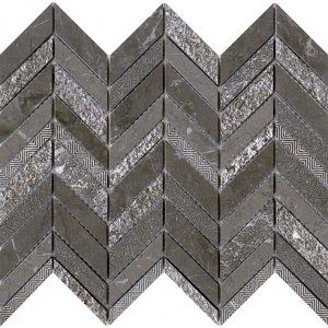 Victorian Chevron Brown mozaika kamienna L'Antic Colonial 25,2x30,4