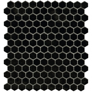 Air Hexagon Black mozaika ceramiczna L'Antic Colonial 27,2x30,4