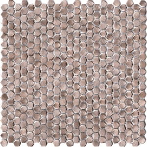 Gravity Aluminium Hexagon Rose Gold mozaika L'Antic Colonial 31x31